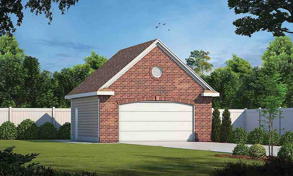 Traditional 2 Car Garage Plan 80439 Elevation