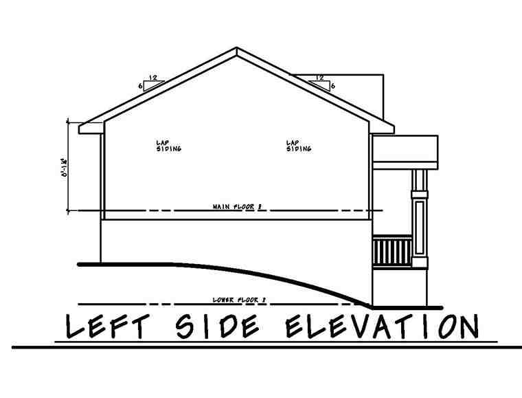 Traditional House Plan 80466 with 3 Beds, 2 Baths, 2 Car Garage Picture 2
