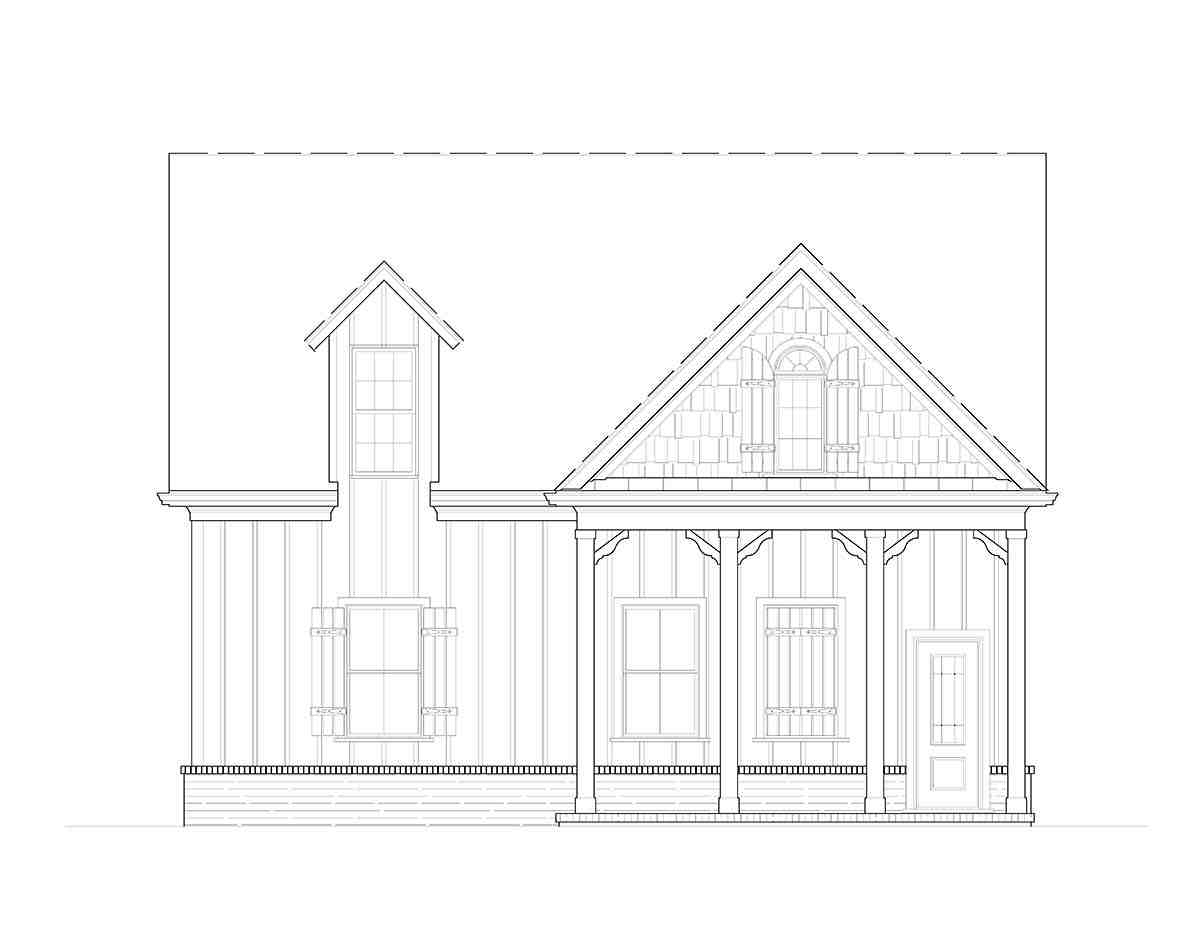 Craftsman, Farmhouse, French Country 2 Car Garage Plan 80738 Picture 1