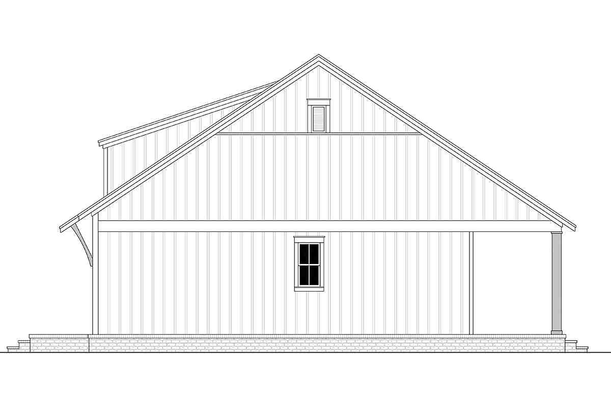 Cottage, Farmhouse, French Country, Southern House Plan 80810 with 2 Beds, 1 Baths Picture 1