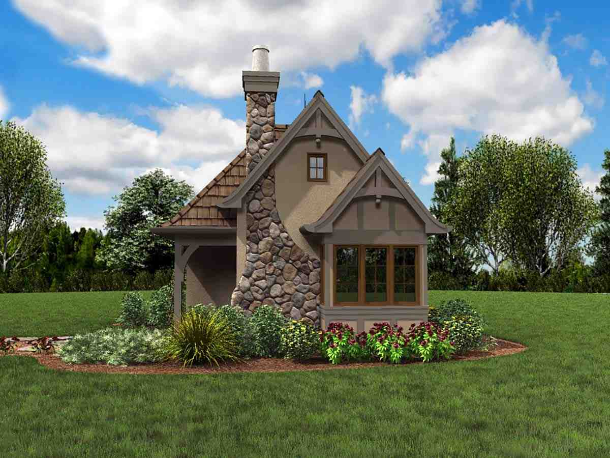 Cabin, Cottage, Narrow Lot, One-Story House Plan 81260 with 1 Beds, 1 Baths Picture 1