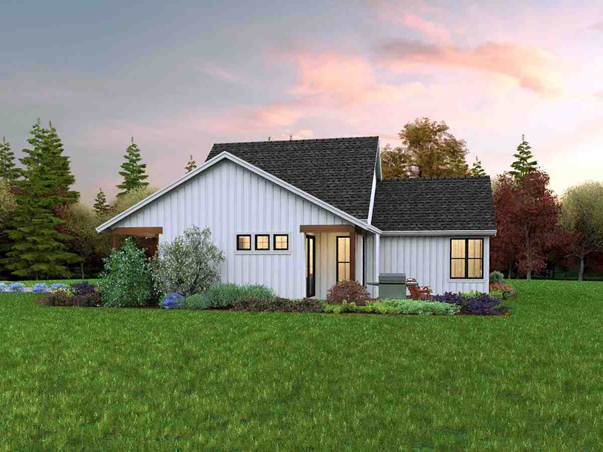 Contemporary, Farmhouse, Ranch House Plan 81310 with 3 Beds, 2 Baths, 2 Car Garage Picture 1