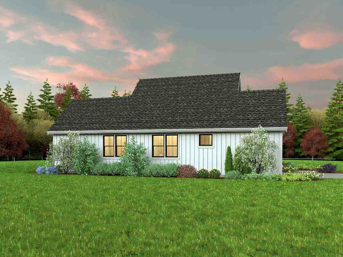 Contemporary, Farmhouse, Ranch House Plan 81310 with 3 Beds, 2 Baths, 2 Car Garage Picture 2