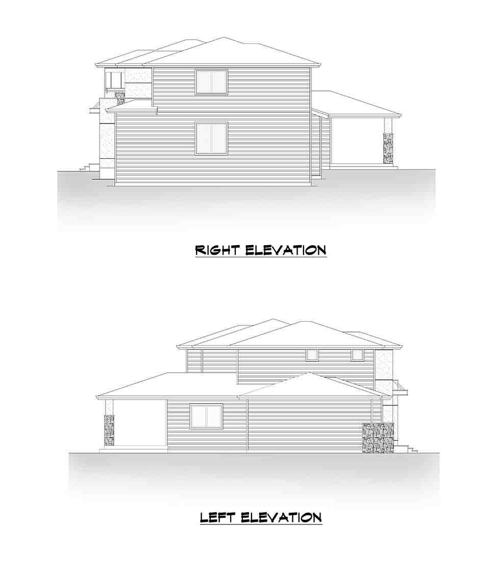 Contemporary, Modern House Plan 81905 with 5 Beds, 4 Baths, 3 Car Garage Picture 4