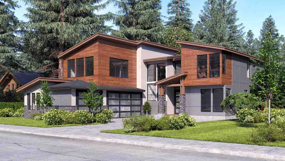 Contemporary, Modern House Plan 81932 with 4 Beds, 3 Baths, 3 Car Garage Picture 1