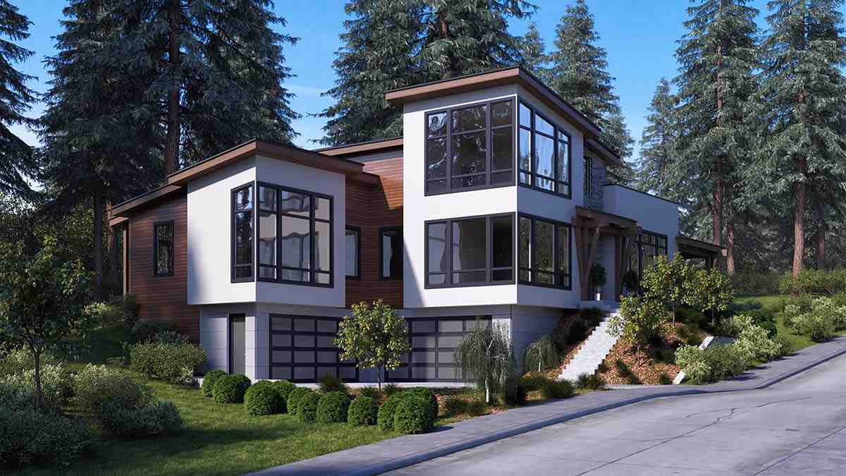 Modern House Plan 81933 with 3 Beds, 4 Baths, 6 Car Garage Picture 1