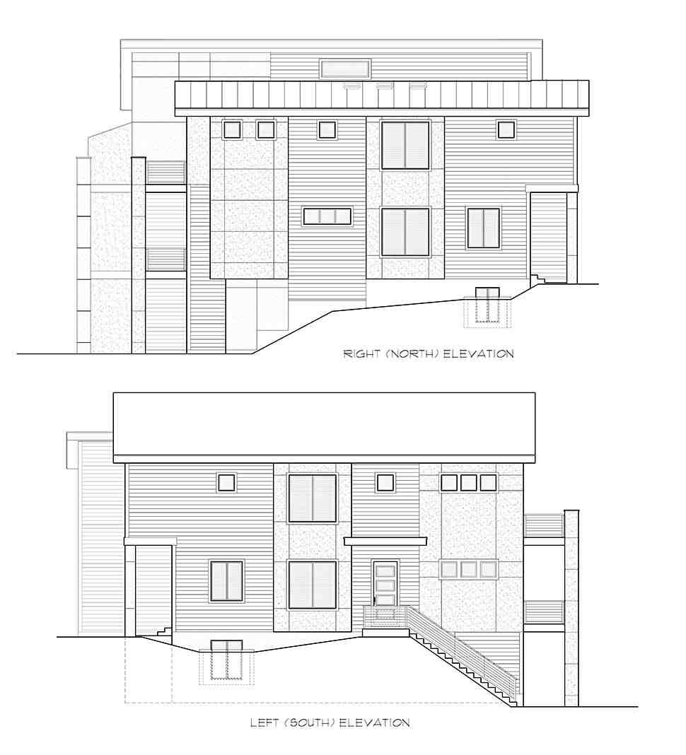 Contemporary, Modern Multi-Family Plan 81940 with 6 Beds, 6 Baths, 3 Car Garage Picture 4