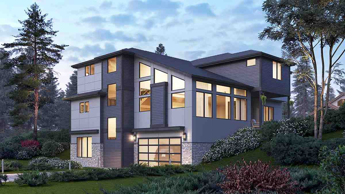 Contemporary, Modern House Plan 81954 with 5 Beds, 5 Baths, 2 Car Garage Picture 1
