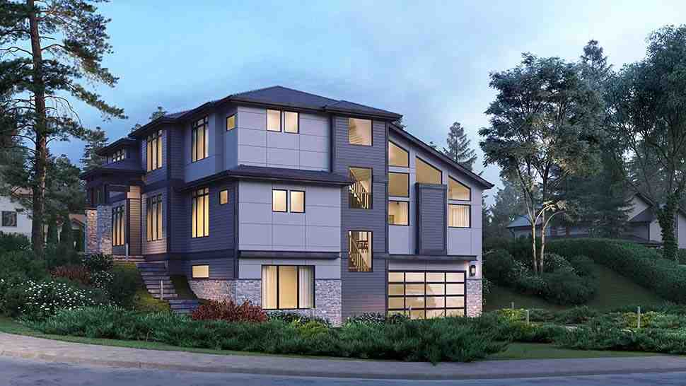 Contemporary, Modern House Plan 81954 with 5 Beds, 5 Baths, 2 Car Garage Picture 2