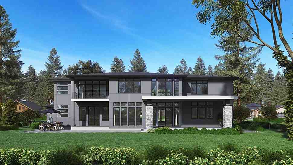 Contemporary, Modern House Plan 81955 with 4 Beds, 5 Baths, 3 Car Garage Picture 3