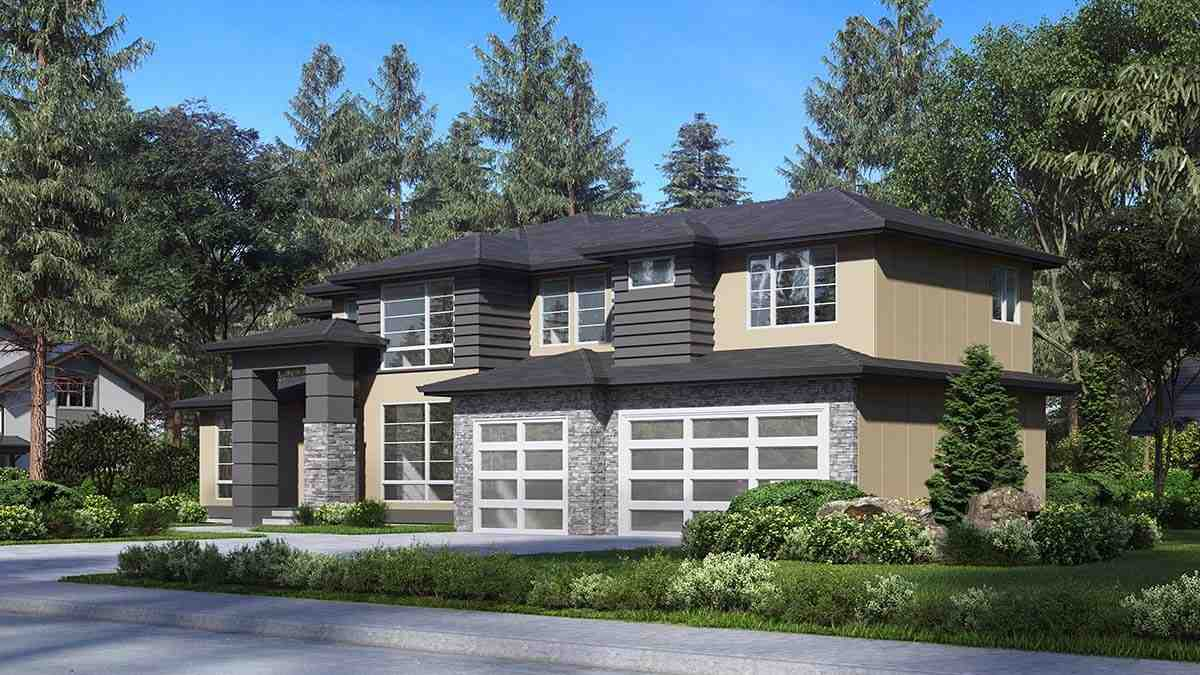 Contemporary, Modern House Plan 81961 with 4 Beds, 3 Baths, 3 Car Garage Picture 1