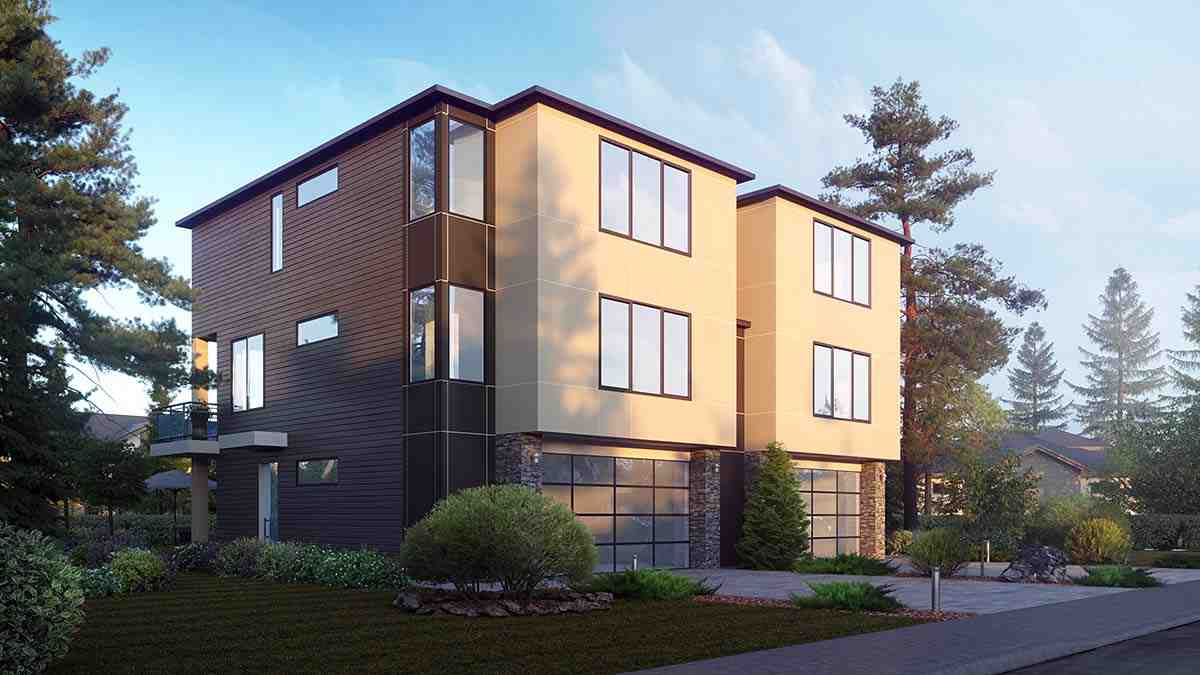 Contemporary, Modern Multi-Family Plan 81963 with 8 Beds, 8 Baths, 4 Car Garage Picture 1