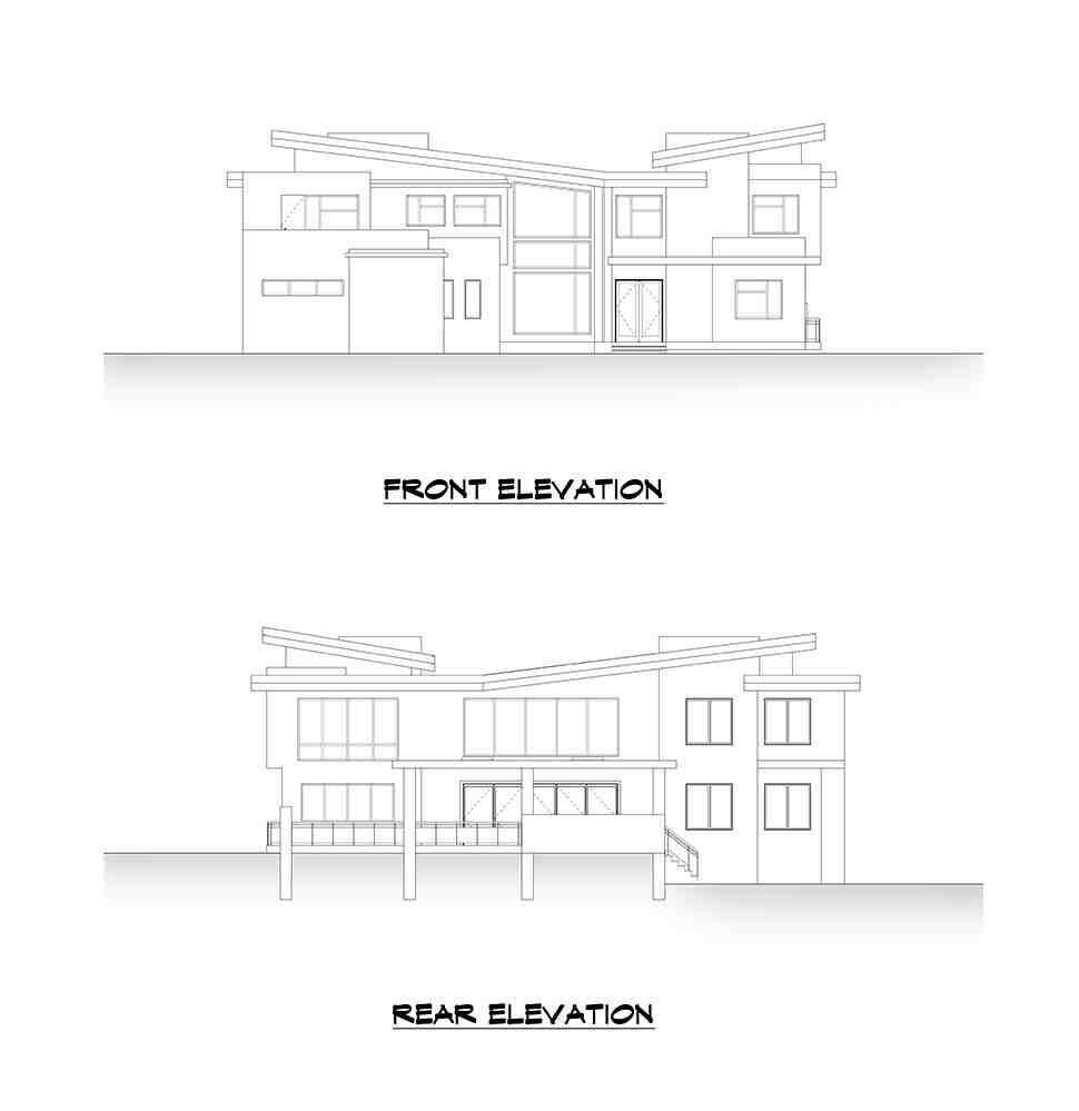 Modern House Plan 81990 with 4 Beds, 6 Baths, 3 Car Garage Picture 3
