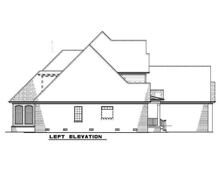 European House Plan 82241 with 4 Beds, 3 Baths, 3 Car Garage Picture 1