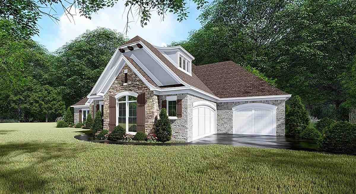 European, French Country, Traditional House Plan 82465 with 4 Beds, 3 Baths, 3 Car Garage Picture 1