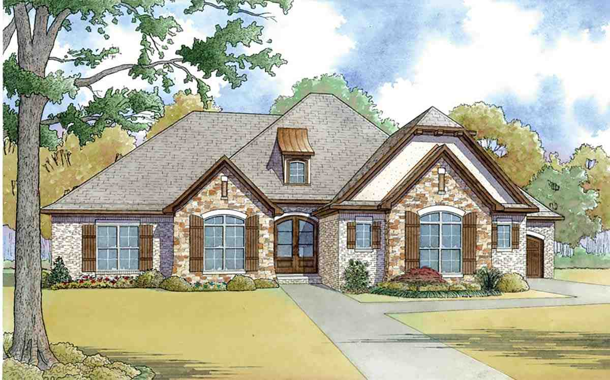 European, French Country, Traditional House Plan 82465 with 4 Beds, 3 Baths, 3 Car Garage Picture 3