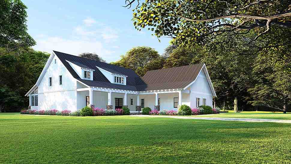 Country, Ranch House Plan 82508 with 3 Beds, 2 Baths, 2 Car Garage Picture 1
