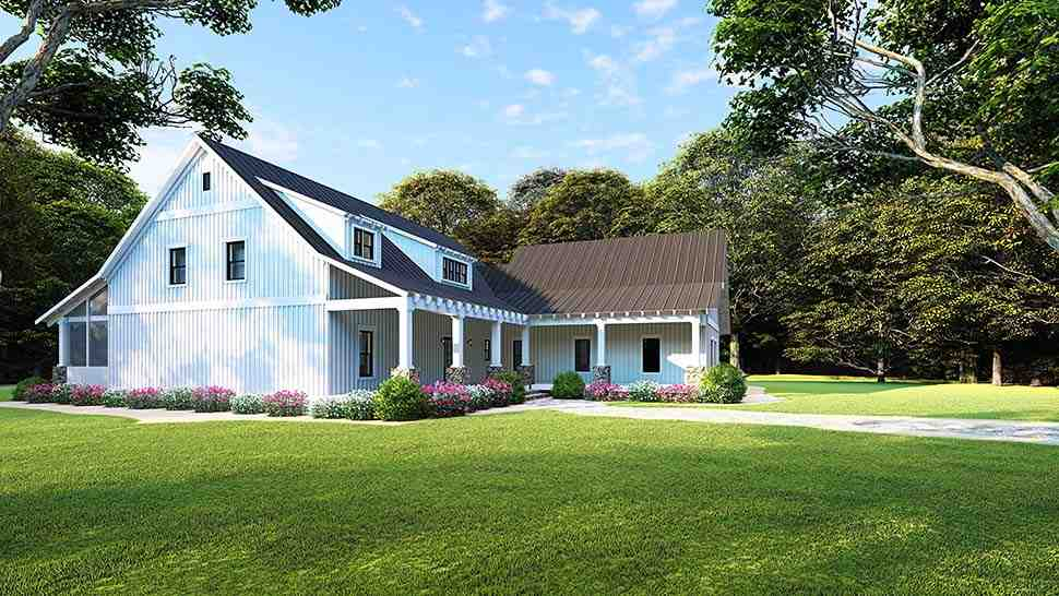 Country, Ranch House Plan 82508 with 3 Beds, 2 Baths, 2 Car Garage Picture 2