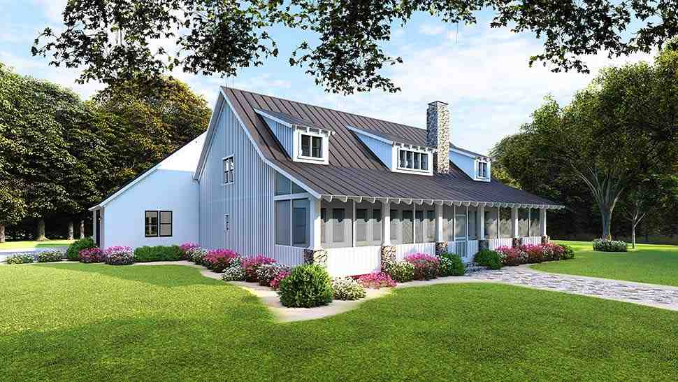 Country, Ranch House Plan 82508 with 3 Beds, 2 Baths, 2 Car Garage Picture 4