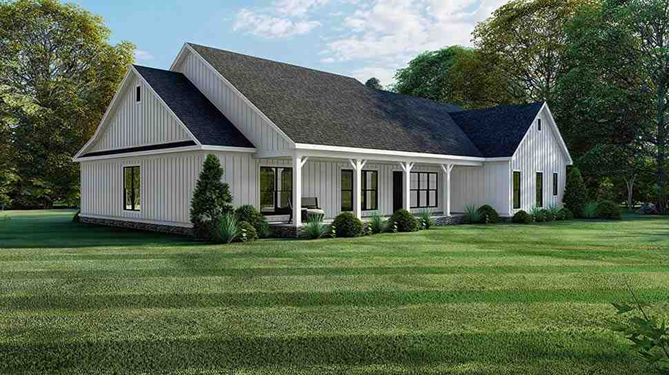Bungalow, Craftsman, Farmhouse, One-Story House Plan 82560 with 4 Beds, 4 Baths, 2 Car Garage Picture 1