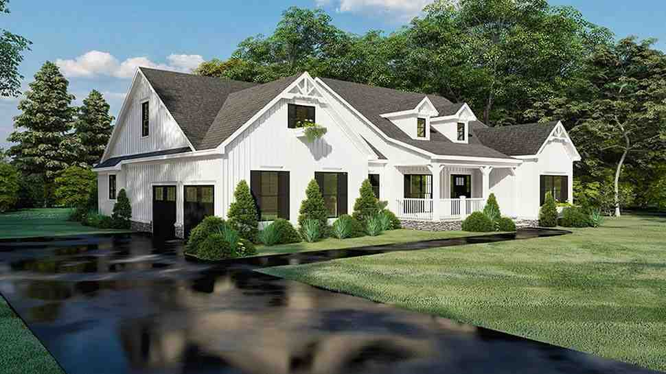 Bungalow, Craftsman, Farmhouse, One-Story House Plan 82560 with 4 Beds, 4 Baths, 2 Car Garage Picture 2