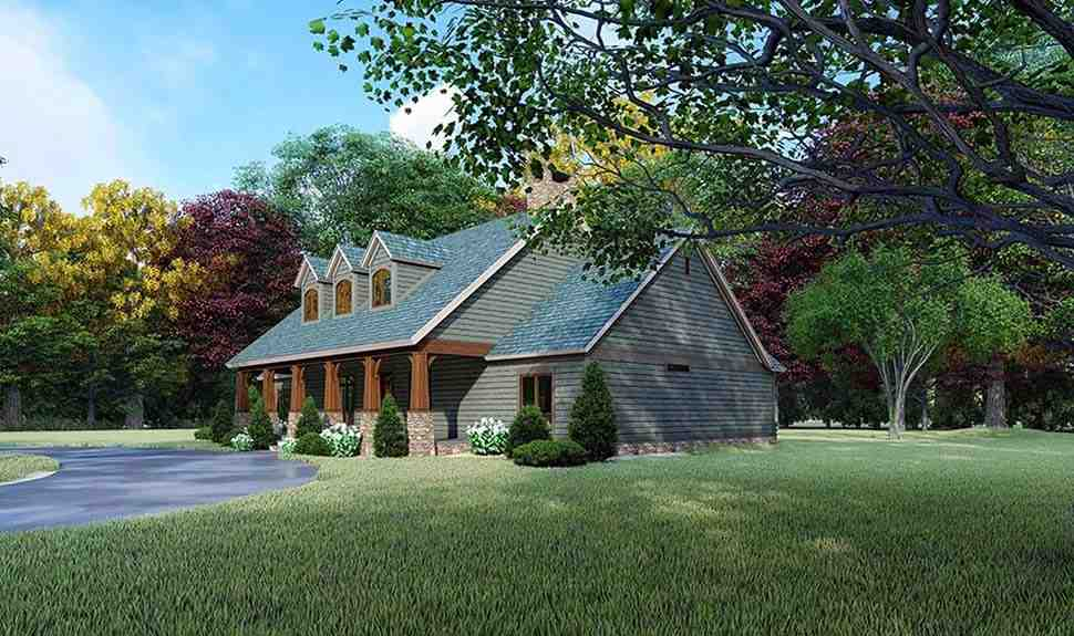 Country, Farmhouse House Plan 82564 with 3 Beds, 2 Baths Picture 1