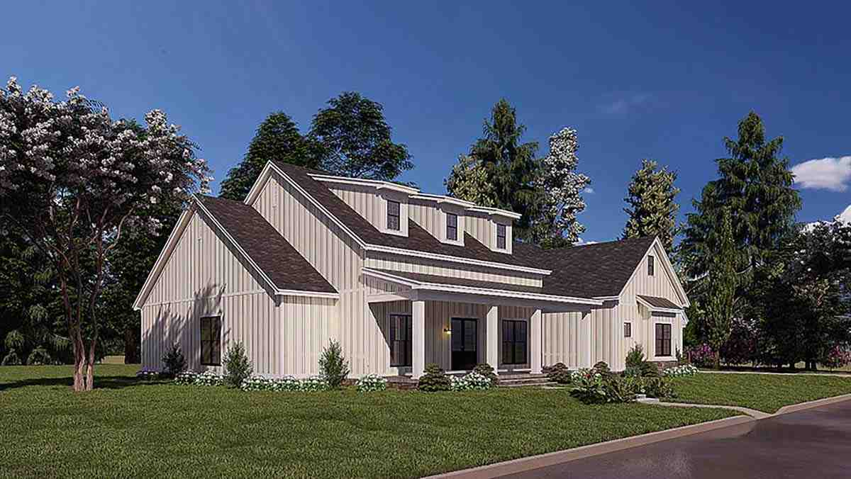 Bungalow, Craftsman, Farmhouse House Plan 82577 with 4 Beds, 3 Baths, 2 Car Garage Picture 2