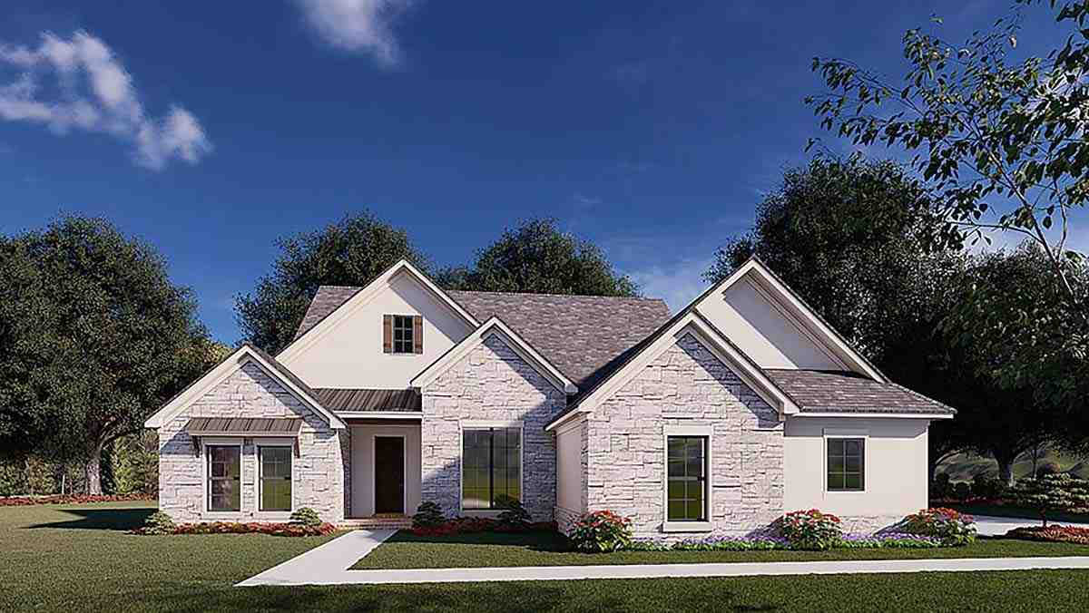 Traditional House Plan 82579 with 3 Beds, 2 Baths, 2 Car Garage Elevation