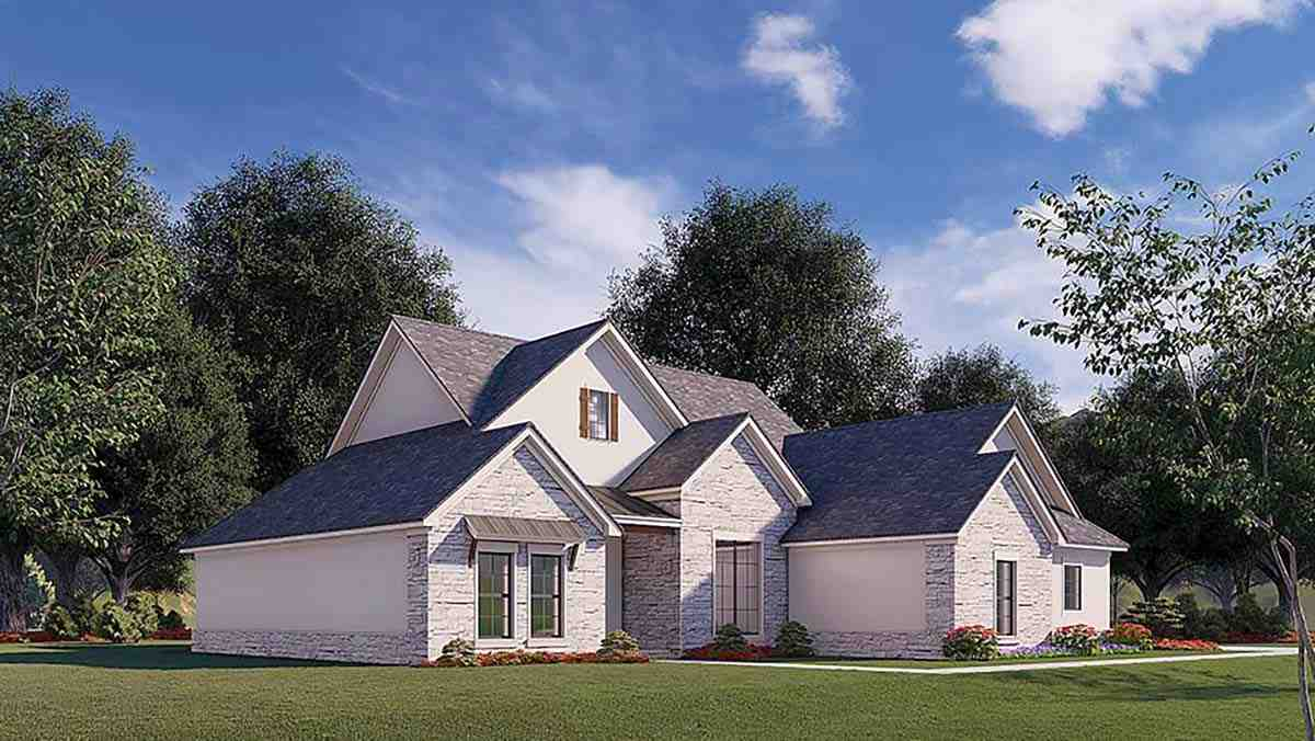 Traditional House Plan 82579 with 3 Beds, 2 Baths, 2 Car Garage Picture 2