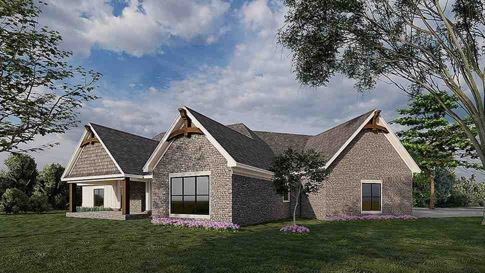 Bungalow, Craftsman, French Country House Plan 82583 with 3 Beds, 2 Baths, 3 Car Garage Picture 1