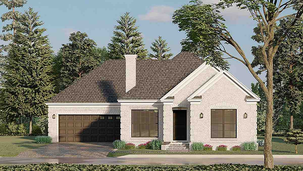 European, Traditional House Plan 82596 with 3 Beds, 2 Baths, 2 Car Garage Elevation