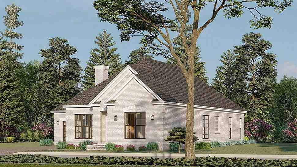 European, Traditional House Plan 82596 with 3 Beds, 2 Baths, 2 Car Garage Picture 1