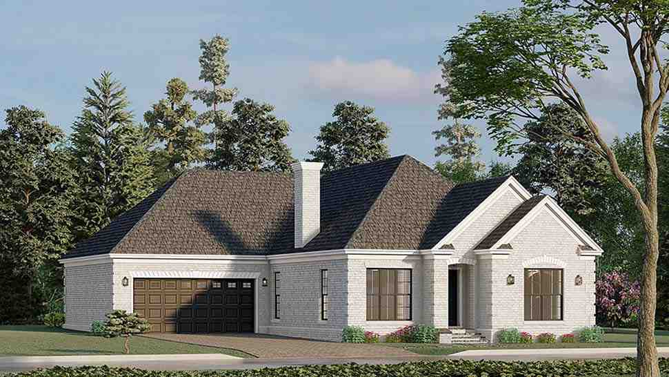 European, Traditional House Plan 82596 with 3 Beds, 2 Baths, 2 Car Garage Picture 2