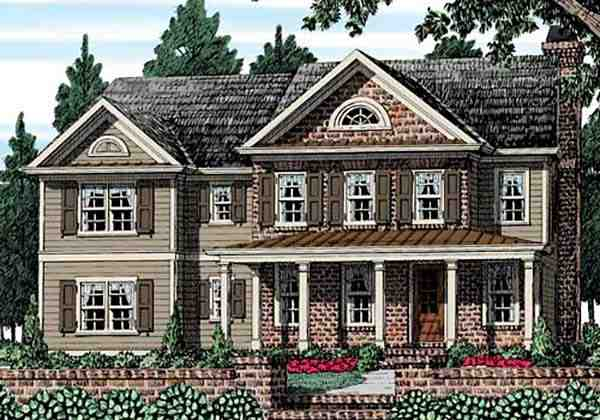 Country House Plan 83113 with 4 Beds, 3 Baths, 2 Car Garage Elevation