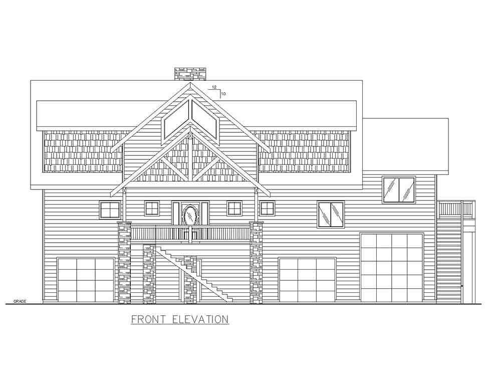 Cabin, Log House Plan 85110 with 4 Beds, 5 Baths, 3 Car Garage Picture 2