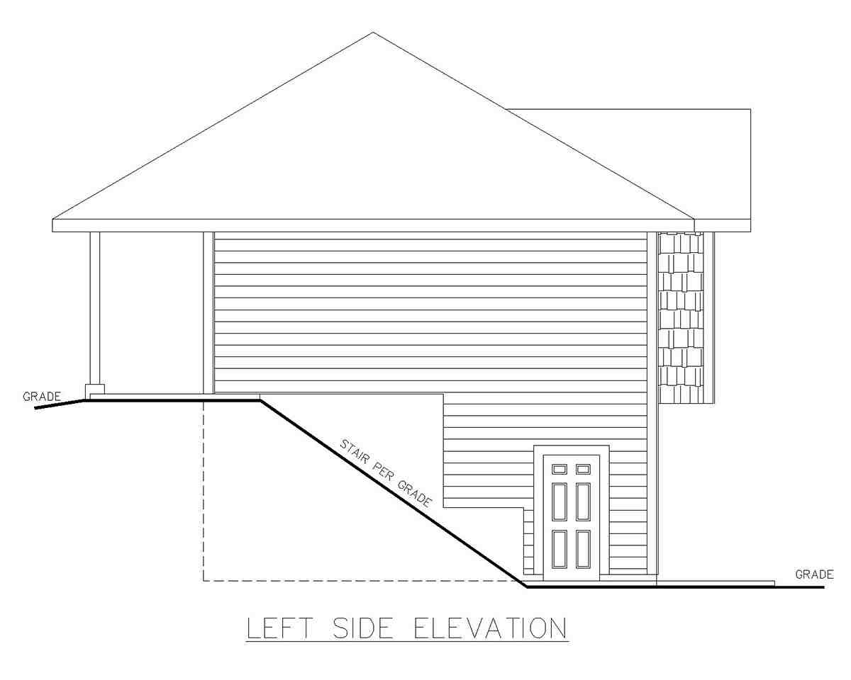 Traditional Garage-Living Plan 85130 with 2 Beds, 2 Baths, 3 Car Garage Picture 2