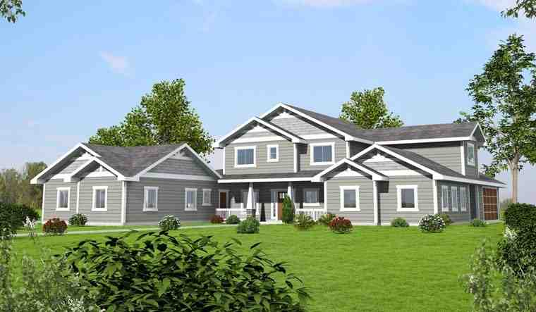 Bungalow, Craftsman, Traditional House Plan 85261 with 5 Beds, 5 Baths, 2 Car Garage Elevation