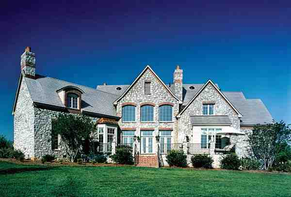 Country, European House Plan 85627 with 5 Beds, 5 Baths, 3 Car Garage Rear Elevation
