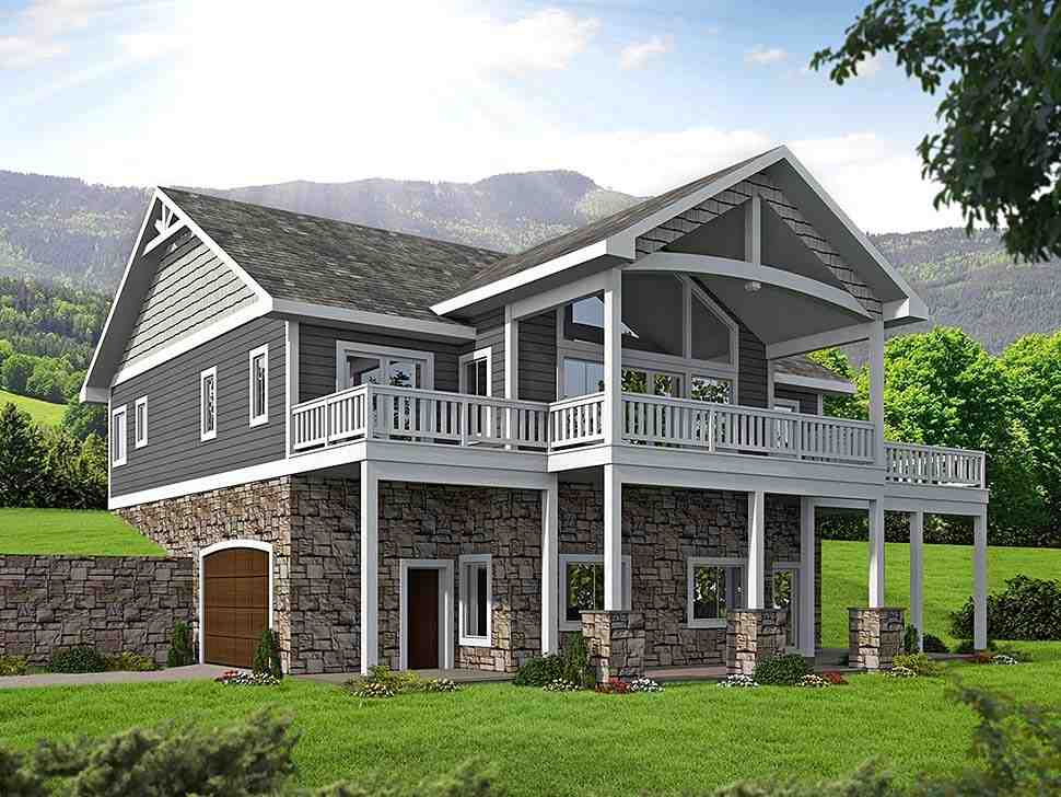 House Plan 85835 with 4 Beds, 4 Baths, 2 Car Garage Elevation