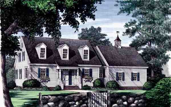 Cape Cod, Traditional House Plan 86102 with 3 Beds, 3 Baths, 2 Car Garage Elevation