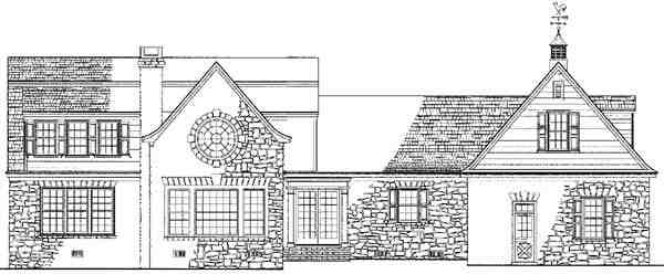 Country, Farmhouse House Plan 86165 with 4 Beds, 5 Baths, 2 Car Garage Rear Elevation