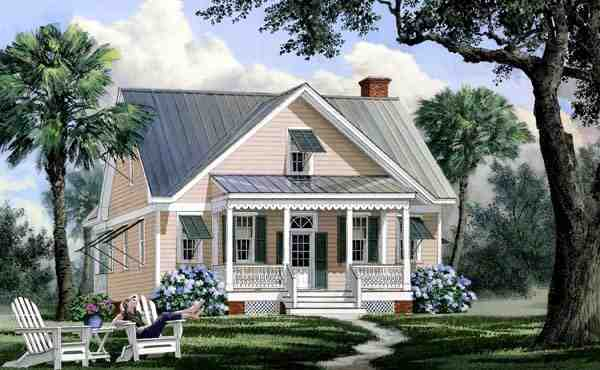 Bungalow, Cape Cod, Cottage, Country House Plan 86169 with 4 Beds, 4 Baths Elevation