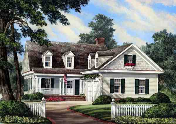 Cottage, Country, Farmhouse, Traditional House Plan 86196 with 3 Beds, 3 Baths, 2 Car Garage Elevation