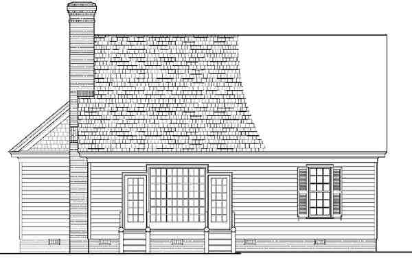 Cottage, Country, Farmhouse, Traditional House Plan 86196 with 3 Beds, 3 Baths, 2 Car Garage Rear Elevation