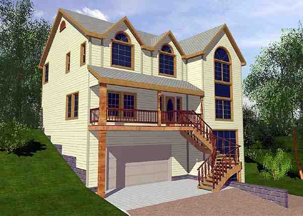 Traditional House Plan 87152 with 4 Beds, 3 Baths, 2 Car Garage Elevation