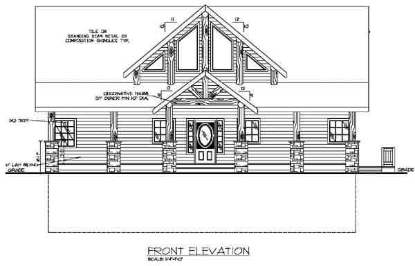 Contemporary House Plan 87197 with 3 Beds, 3 Baths Rear Elevation