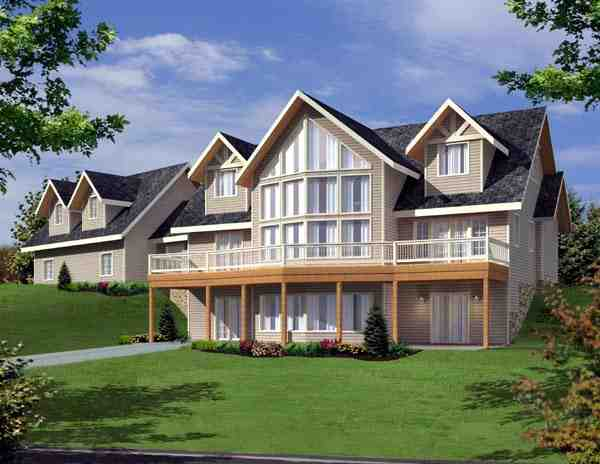 Contemporary House Plan 87204 with 3 Beds, 3 Baths, 2 Car Garage Elevation