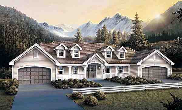 Country Multi-Family Plan 87385 with 6 Beds, 4 Baths, 4 Car Garage Elevation