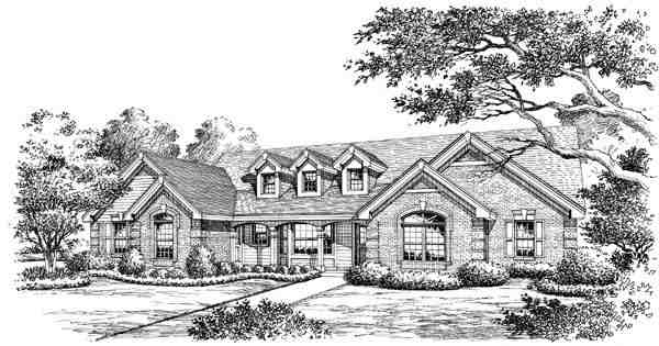 Cape Cod, Country, Ranch, Southern, Traditional House Plan 87817 with 4 Beds, 3 Baths, 3 Car Garage Picture 3