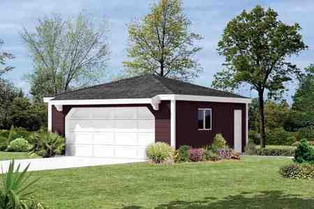 2 Car Garage Plan 87856 Elevation